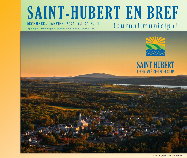 Journal Saint-Hubert bef couverture 2021 (Photo : © Josée Ouellet)