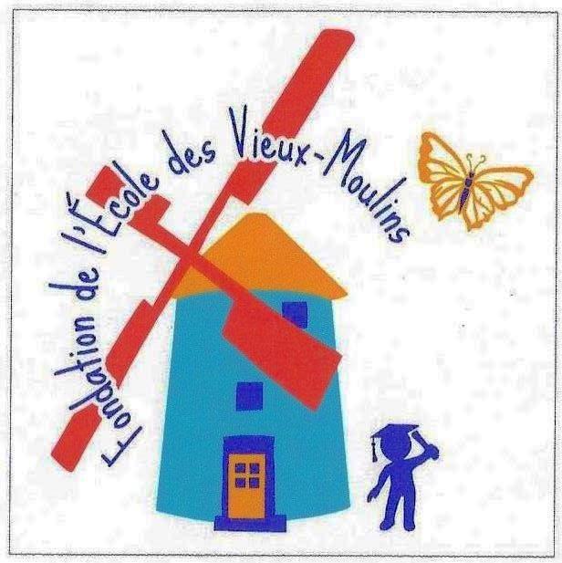 Fondation école des Vieux-Moulins logo (Auteur : Josée Ouellet)