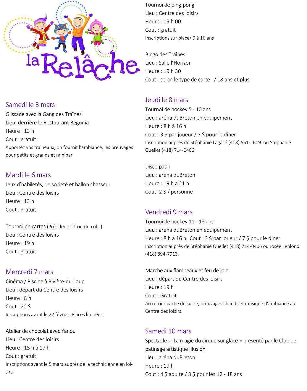 Relâche 2018 programme image (Photo : © Josée Ouellet)
